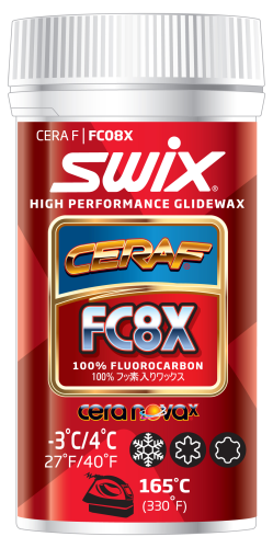 Swix FC8X Cera F Powder, 100% Fluorocarbon, High Performance Glidewax