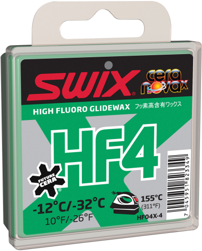 Swix HF4X Green Ski Wax, 40g