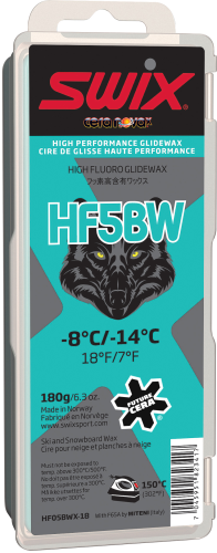 Swix HF5BWX Black Wolf Race Wax, 180g
