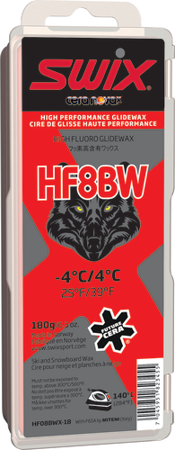 Swix HF8X Red Ski Wax, 180g, HF08X-18