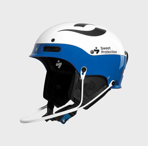 Sweet Protection Trooper II SL Helmet White and blue with guard