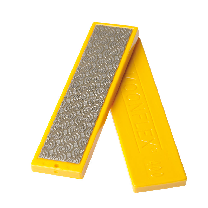 Moonflex Diamond Stone, Yellow, 400 Grit, Medium