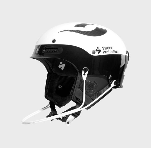 Sweet Protection Trooper II SL Helmet Black and White with Chin guard