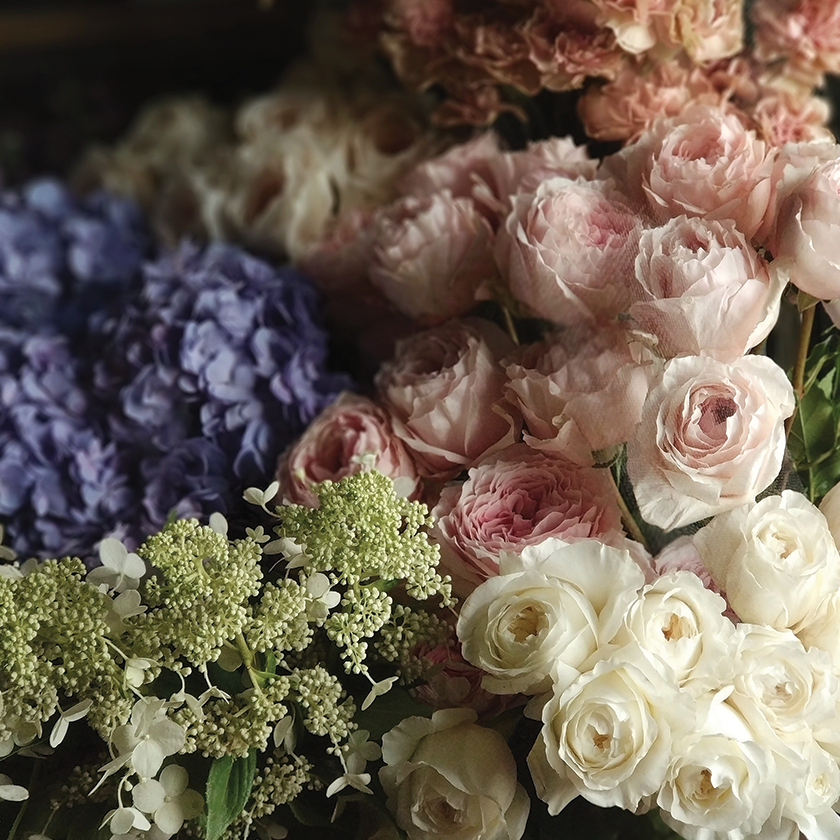 Ship the Muted Pastel Flower Subscription to Worcester, Massachusetts