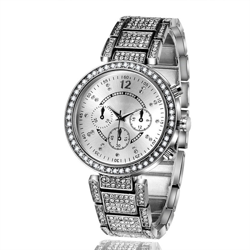 Fashion Crystal Watches Casual Lady Quartz Bracelet Watch for Women