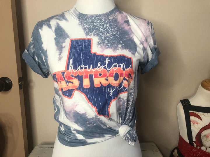 Bleached Astros Unisex Size Tshirt