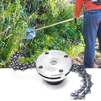 Garden Grass Trimmer Head Coil Chain Brush Cutter for Lawn Mower
