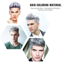 MOFAJANG 6 Colors Temporary Hair Dye Wax - 6 in 1 White Sliver Blue Purple Red Gold - Natural Matte Hairstyle Fashion DIY Hair for Party, Cosplay
