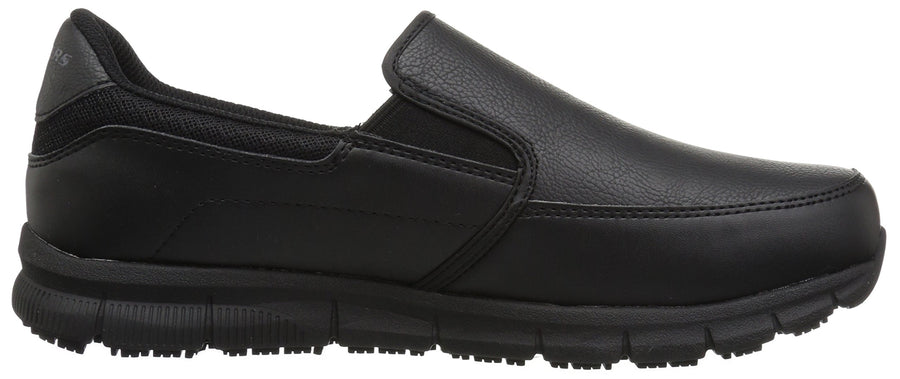 Skechers for Work Men's Nampa-Groton Food Service Shoe,black polyurethane,10.5 M US