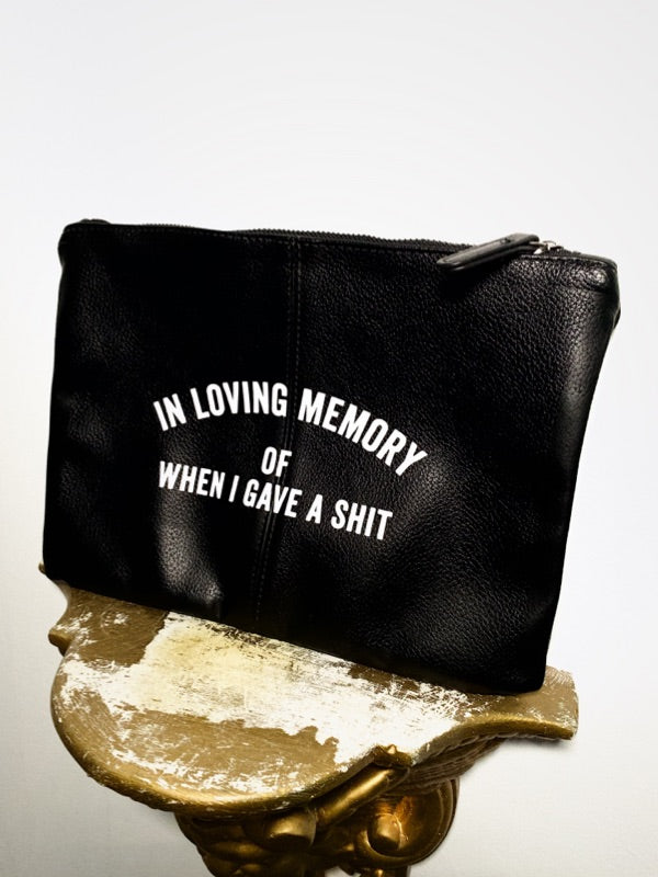 MEMORY Zip Bag (Leatherette)