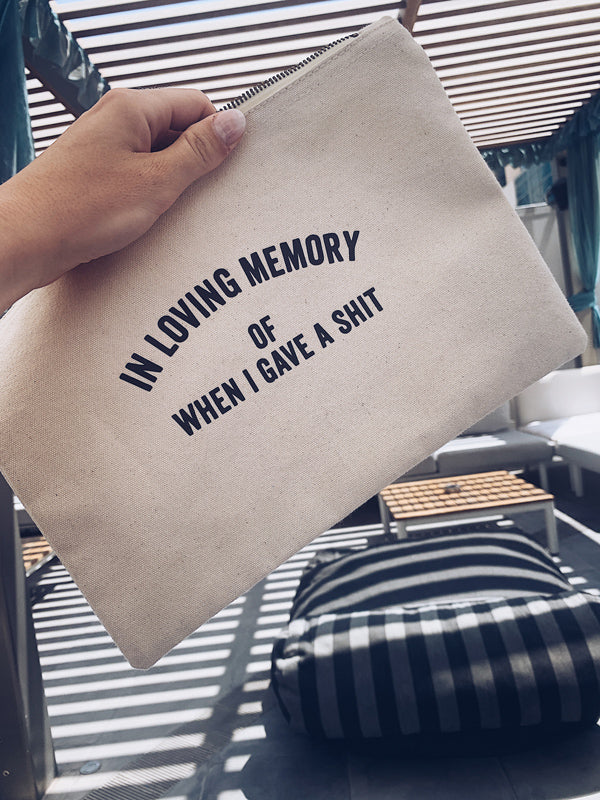 MEMORY Zip Bag (Cotton)