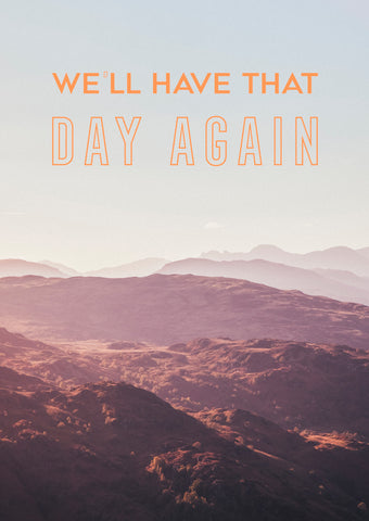 Neon Gray We'll Have That Day Again Artwork