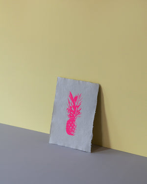 Signature Screen Print - Neon Pink Pineapple
