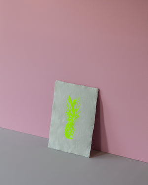 Signature Screen Print - Neon Yellow Pineapple