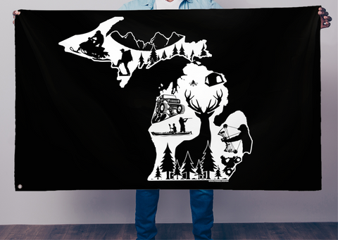 Michigan Outdoor's Flag - Forbes Design