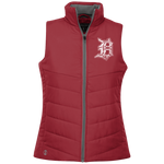 Ladies Quilted Vest with Detroit D - Forbes Design