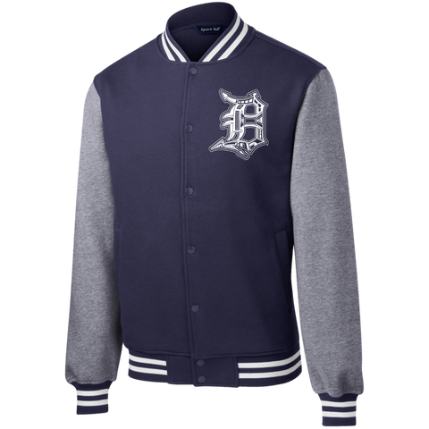 Detroit D Fleece Letterman Jacket - Forbes Design