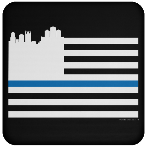 Detroit Police Flag Coaster