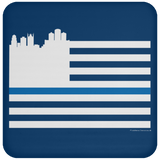 Detroit Skyline Thin Blue Line Coaster - Forbes Design