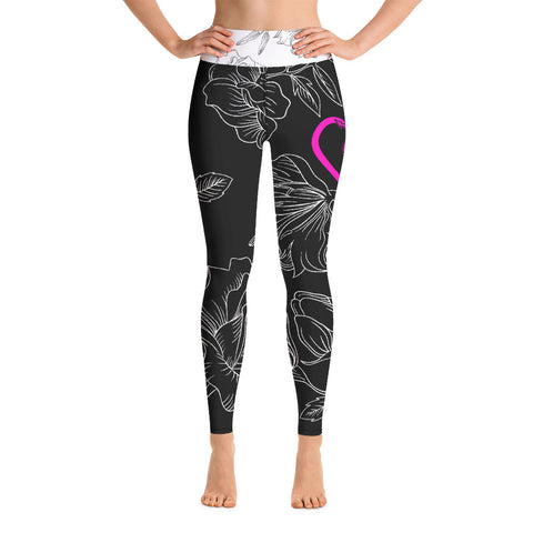 Heart of Detroit Yoga Leggings - Yoga Pants - [Forbes_Design]