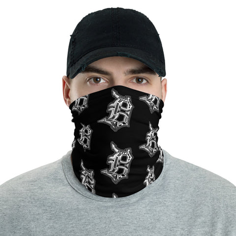 Detroit D Pattern Face Mask / Head Band - Forbes Design