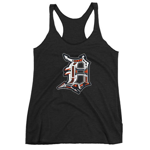 Detroit D Game Day Women's Racerback Tank - Forbes Design