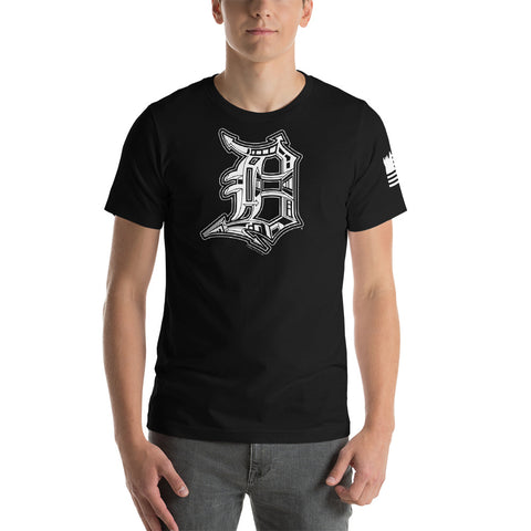 Detroit D with Flag Design (Unisex) - T-Shirt - [Forbes_Design]