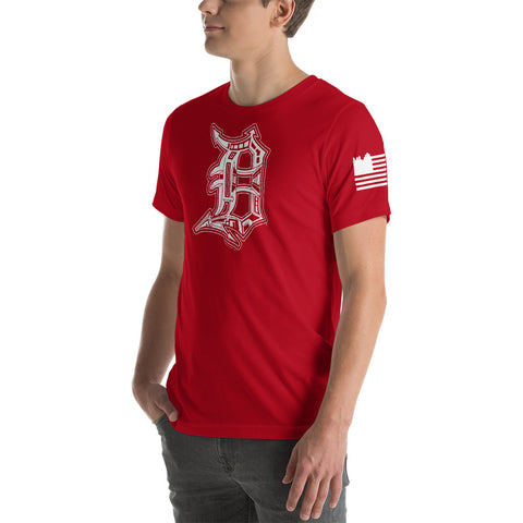 Detroit D with Flag Design (Unisex) - Forbes Design