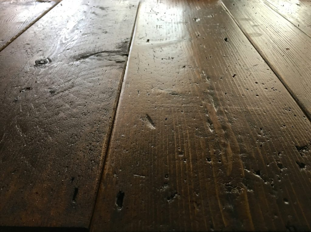 Sample of Reclaimed Medium Pine Floorboards