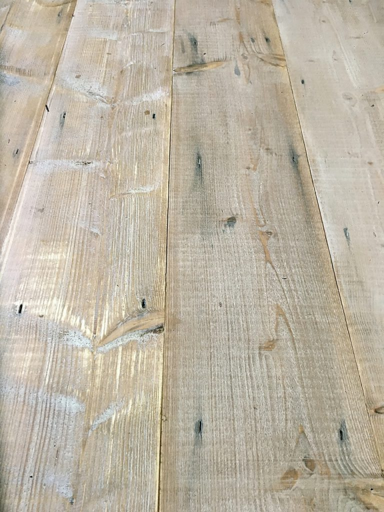 Sample of Baltic Pine White Oiled Floorboards