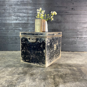 Vintage Steel Deed Box