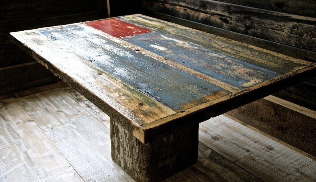Painted Reclaimed Pine Table