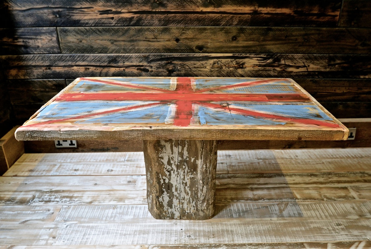 Union Jack Reclaimed Table Top
