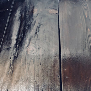 reclaimed pine floorboards