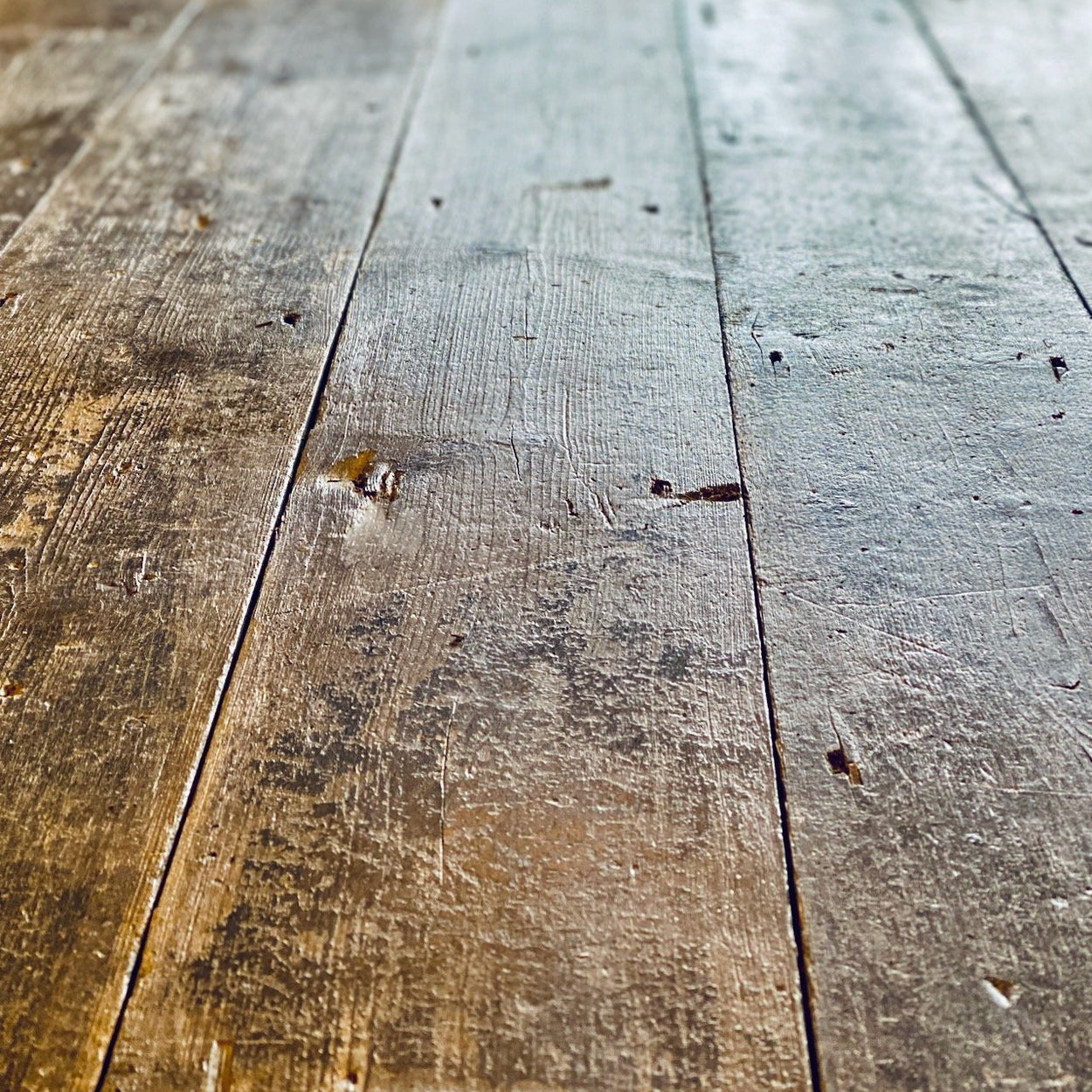 Sample of Original Reclaimed Pine Floorboards