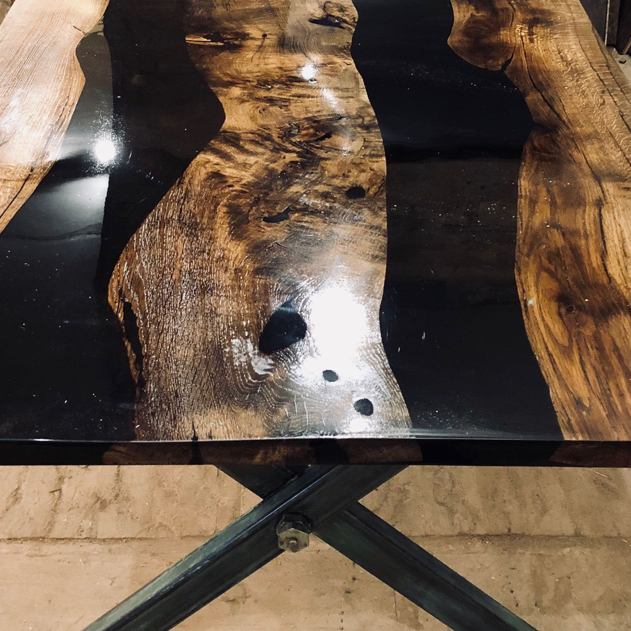 Antique Oak Resin Table