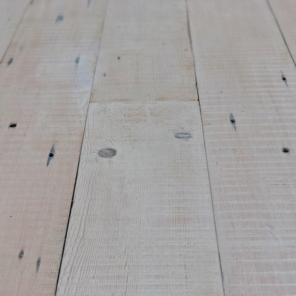 Sample of Reclaimed Whitewashed Douglas Fir Boards