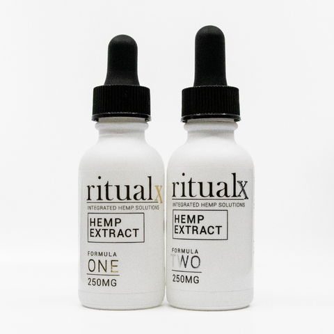 2-Pack of ritualX Formula ONE and Formula TWO Hemp Extract