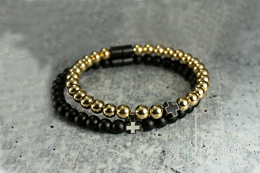 Golden Prayer Bracelet - AAONYX