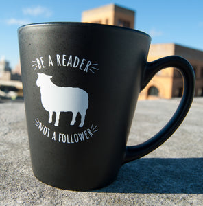 'Be a Reader, Not a Follower' Black Coffee Mug