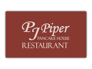 $25 Gift Card for Only $15 | PJ Piper Pancake House