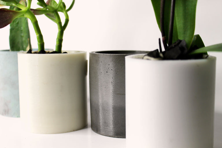 Concrete Short Cylinder Planter