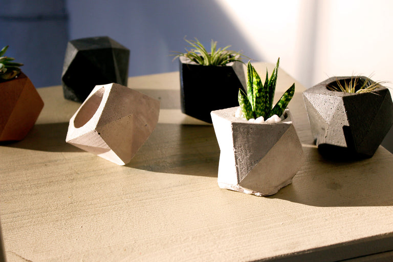 Concrete Geodesic Planter