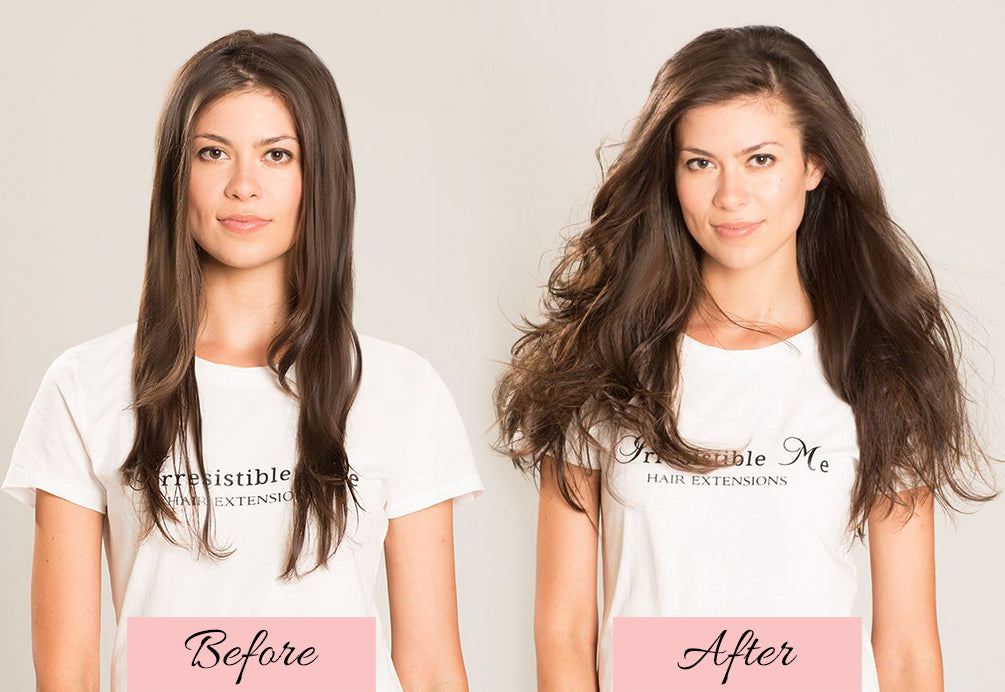 hair extensions before and after, hair extensions for thin hair
