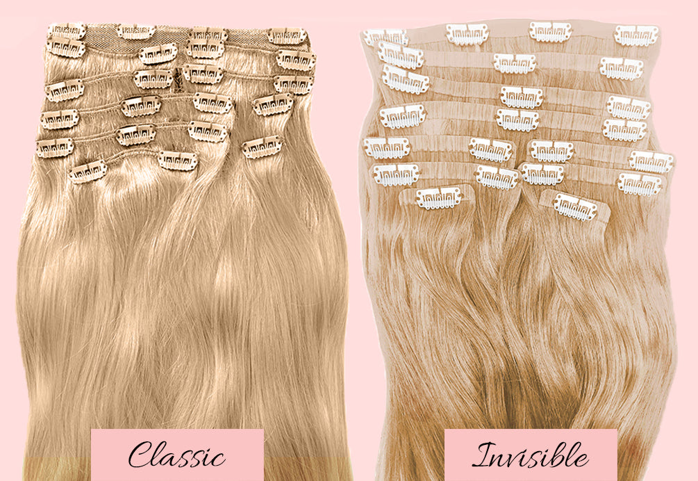 blonde clip in hair extensions, long blonde hair extensions, extensions for fine hair