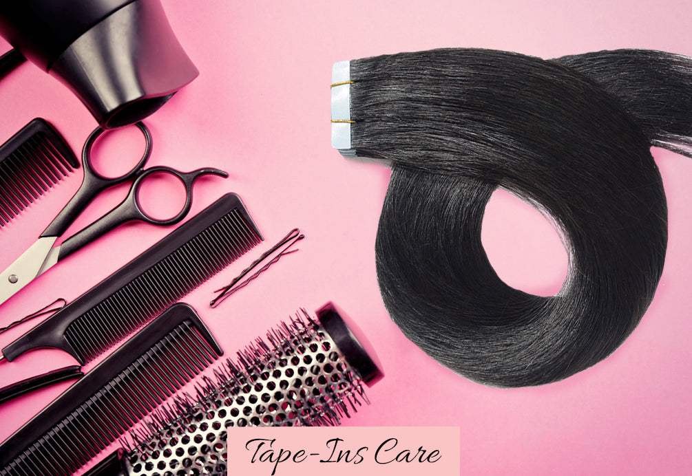 how to care for tape in extensions, do tape in extensions damage hair, tape in extensions care