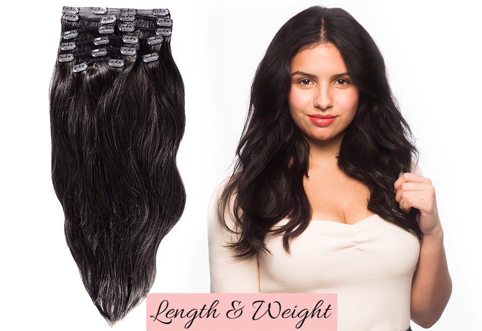 black clip in hair extensions, how to use hair extensions, hair extensions for thicker hair