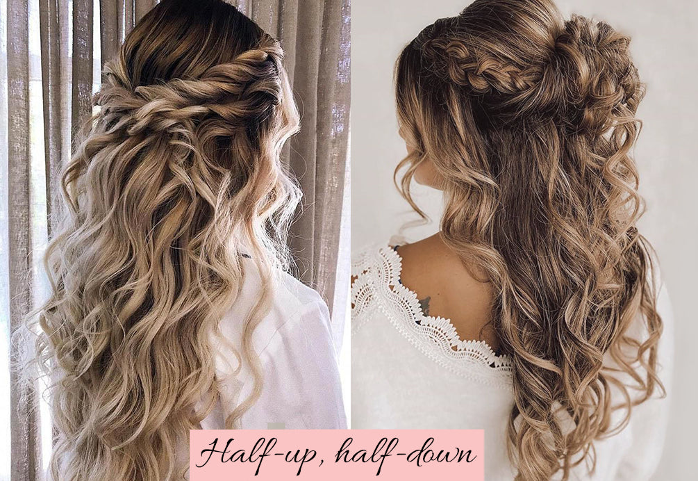 holiday party hair, half up half down with extensions, half up half down extensions, updos with extensions