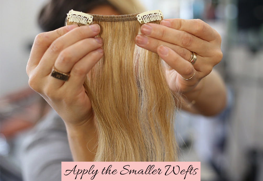 how to hide tape in extensions in thin hair, how to apply tape in hair extensions to thin hair, how to put extensions in thin hair