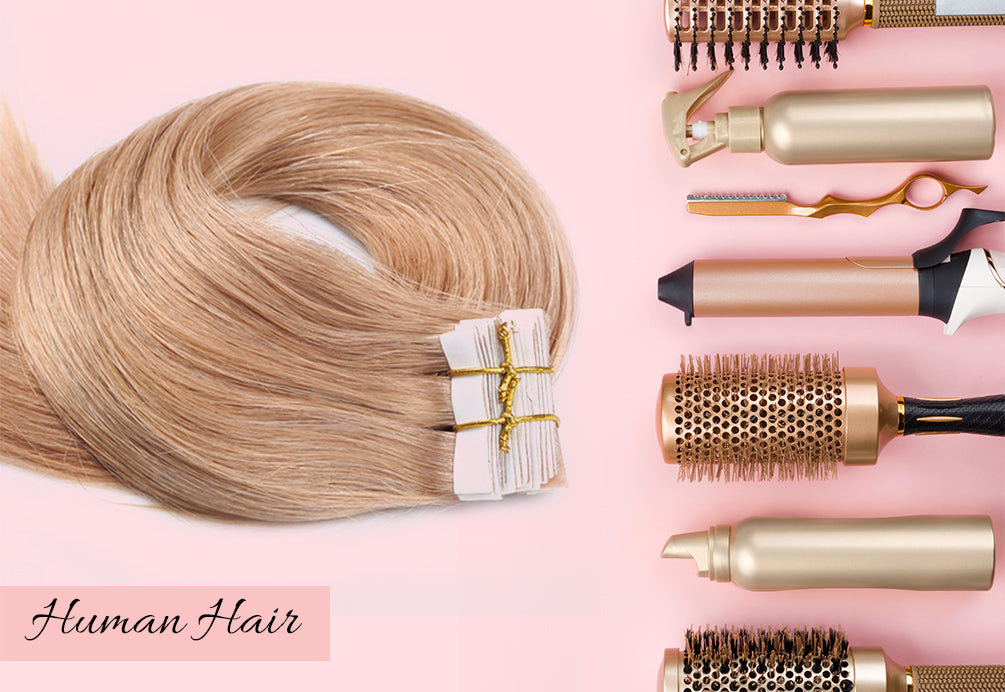 real human hair tape in extensions, what are tape in hair extensions, tape in hair extensions for thin hair